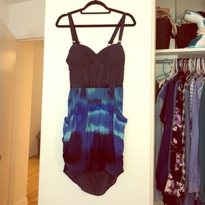Madison Marcus Tie Die Mini Dress